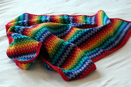 Look What I Made Granny Stripe Blanket Katies Kitchen Blog