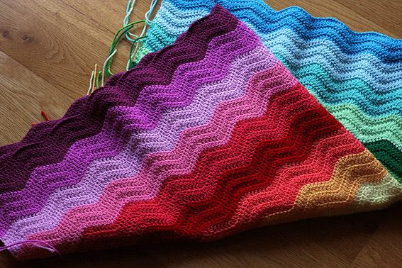 Look What I Made Rainbow Ripple Blanket Katie S Kitchen Blog
